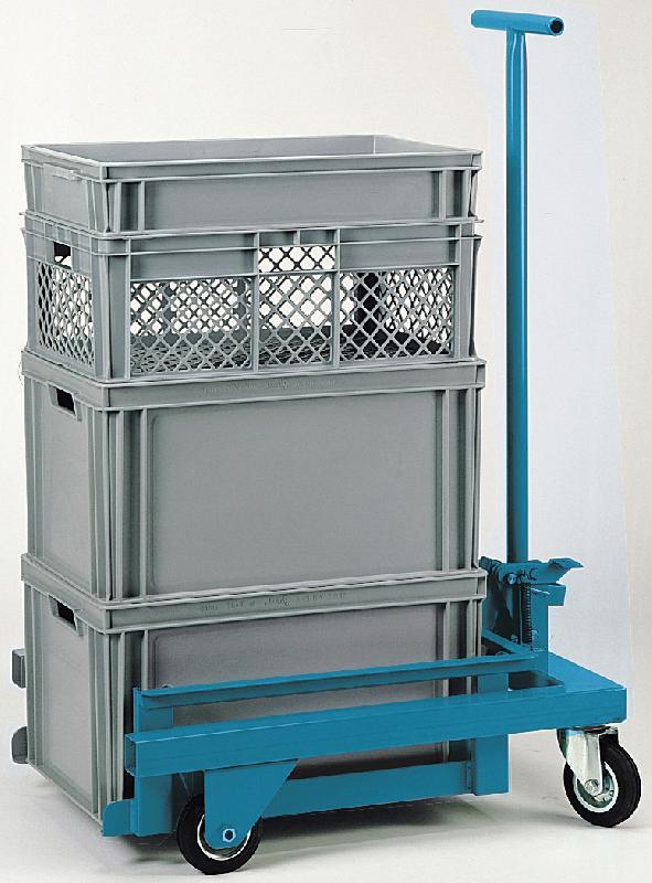 CHARIOT POUR CAISSE PLASTIQUE 600X400 FORCE 300 KG