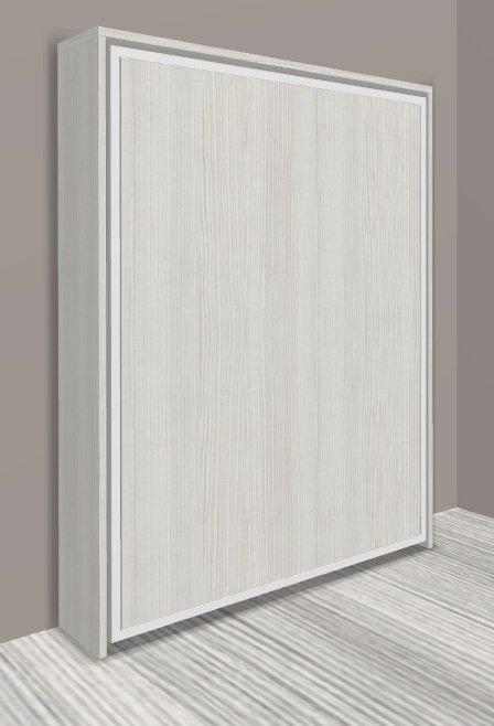 armoire lit escamotable cronos chene blanc couchage 140 22 200 cm. Black Bedroom Furniture Sets. Home Design Ideas