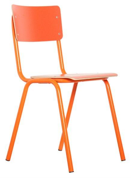 Chaise zuiver back to school orange for Chaise zuiver