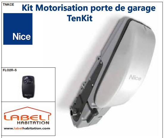Motorisation porte de garage nice tenkit tnkce 24v for Garage mecanique nice