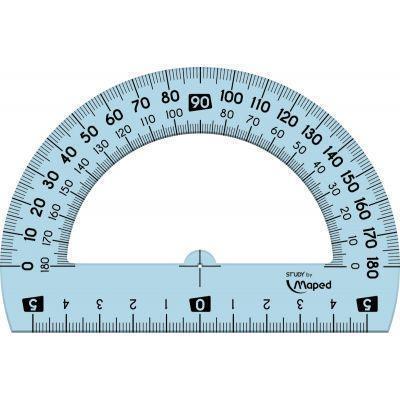 Rapporteur 1/2 cercle 12 cm  180° en plastique incassable gradué en degrés