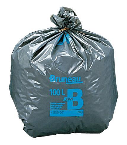 sac poubelle gris bruneau qualit sup rieure 130 litres colis de 200 bruneau comparer les. Black Bedroom Furniture Sets. Home Design Ideas