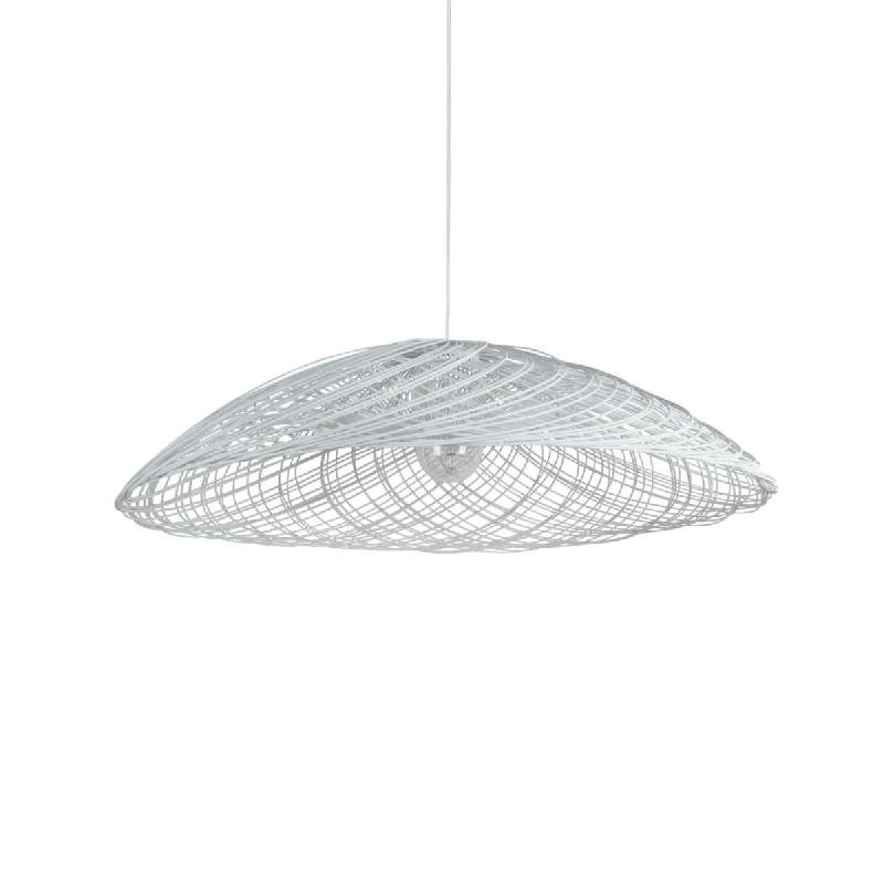 satelise suspension rotin blanc 70cm suspension forestier design par elise fouin comparer. Black Bedroom Furniture Sets. Home Design Ideas