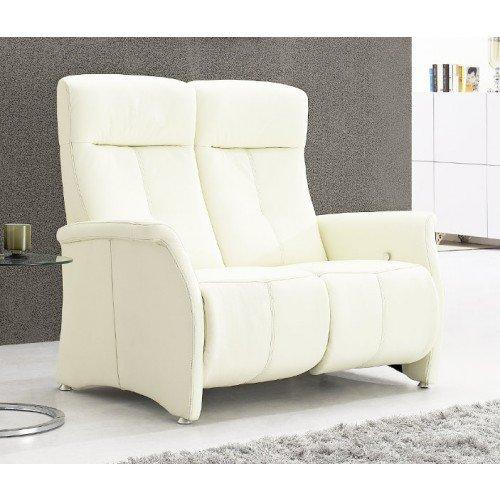 kingston canape relax cuir vachette blanc. Black Bedroom Furniture Sets. Home Design Ideas