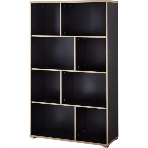 meuble bibliotheque generique etagere bicolore anthracite chene. Black Bedroom Furniture Sets. Home Design Ideas