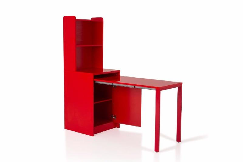 meuble kolto transformable en console extensible rouge comparer les prix de meuble kolto. Black Bedroom Furniture Sets. Home Design Ideas