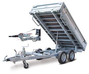 remorque double essieux 3 tonnes