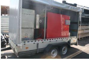 Location - chaudière mobile r-400 livrée sur remorque pour vos travaux ou panne