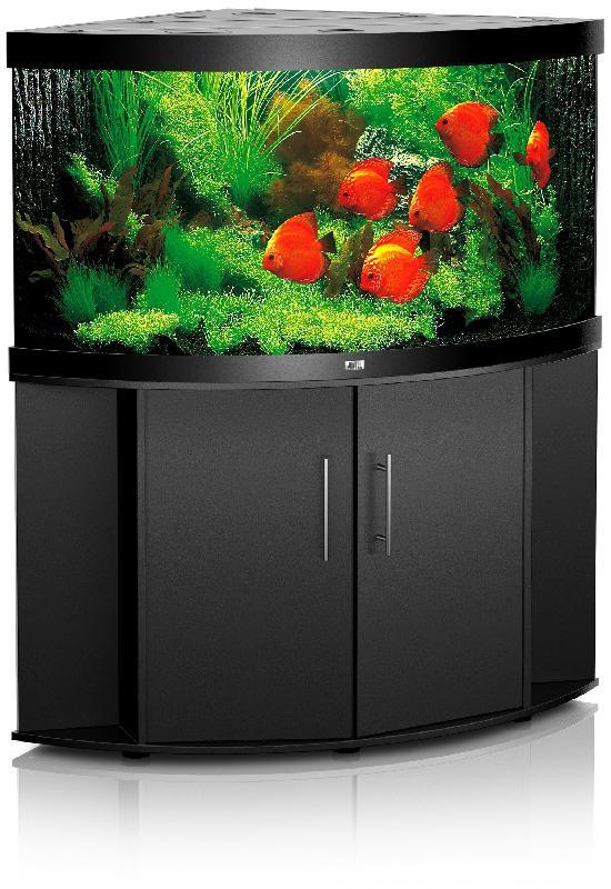 Aquarium d 39 angle trigon 190 noir meuble comparer les for Aquarium angle