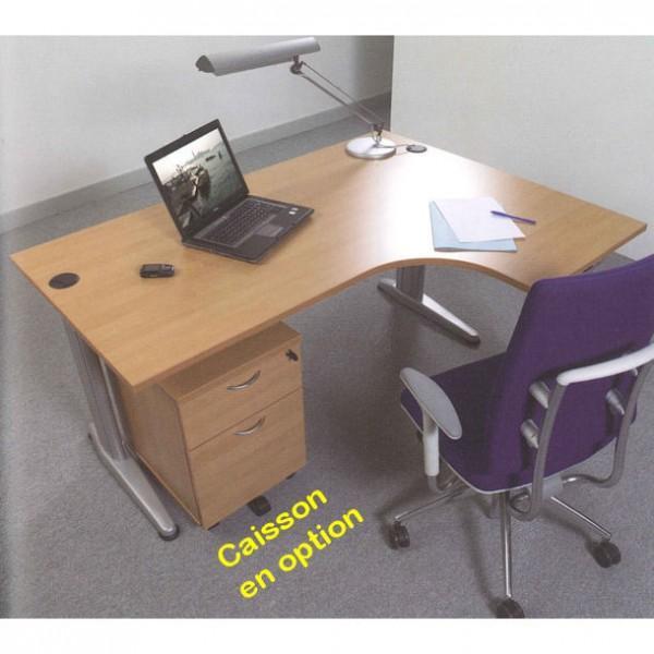 bureau compact bois teo retour droit longueur 1600mm. Black Bedroom Furniture Sets. Home Design Ideas