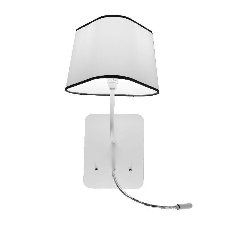 petit nuage applique avec liseuse led blanc noir 24cm. Black Bedroom Furniture Sets. Home Design Ideas