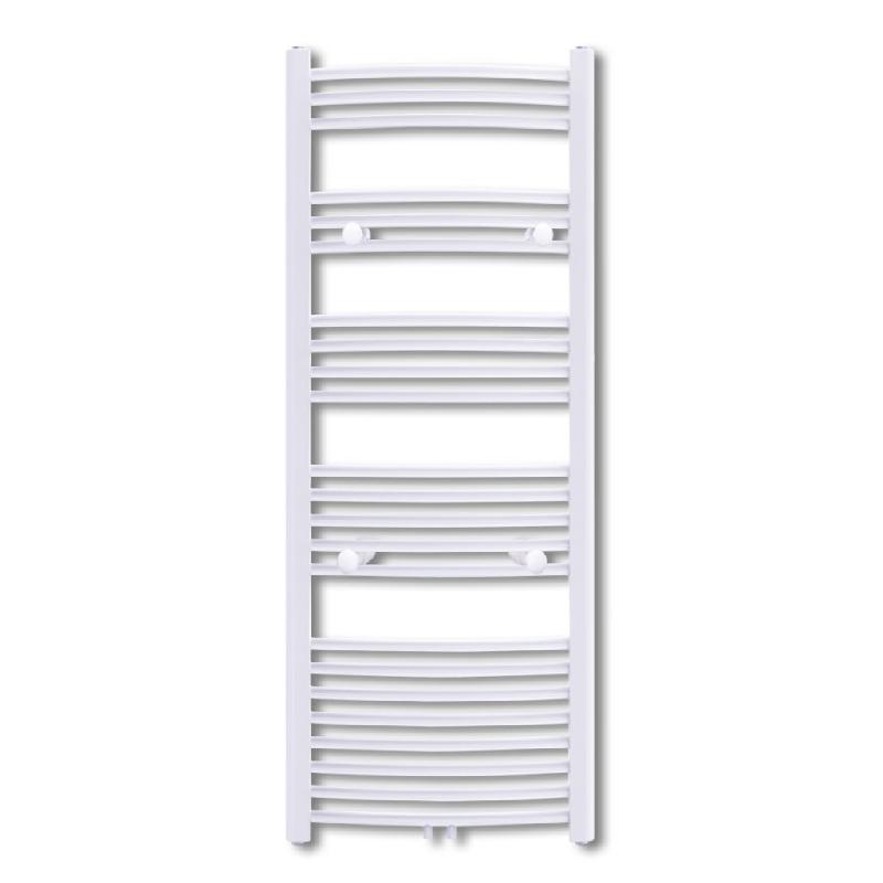 Radiateur chauffage central sèche-serviettes circulation d\'eau chaude hauteur 142 cm salle de bain blanc 3202030