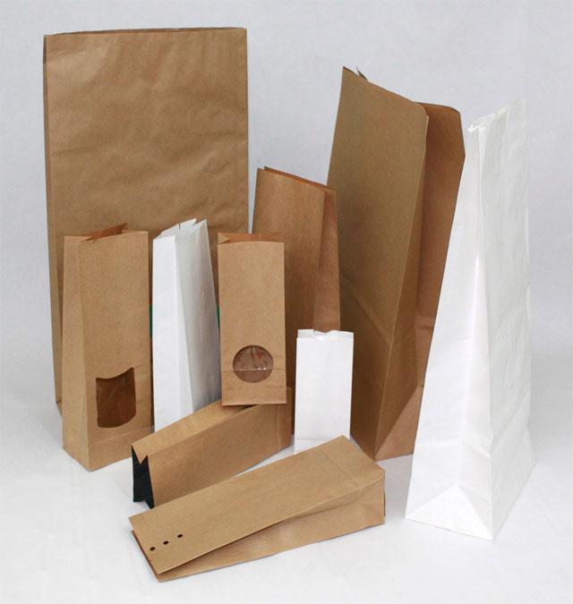 Sacs en papier sos sans impression for Papier collant pour fenetre