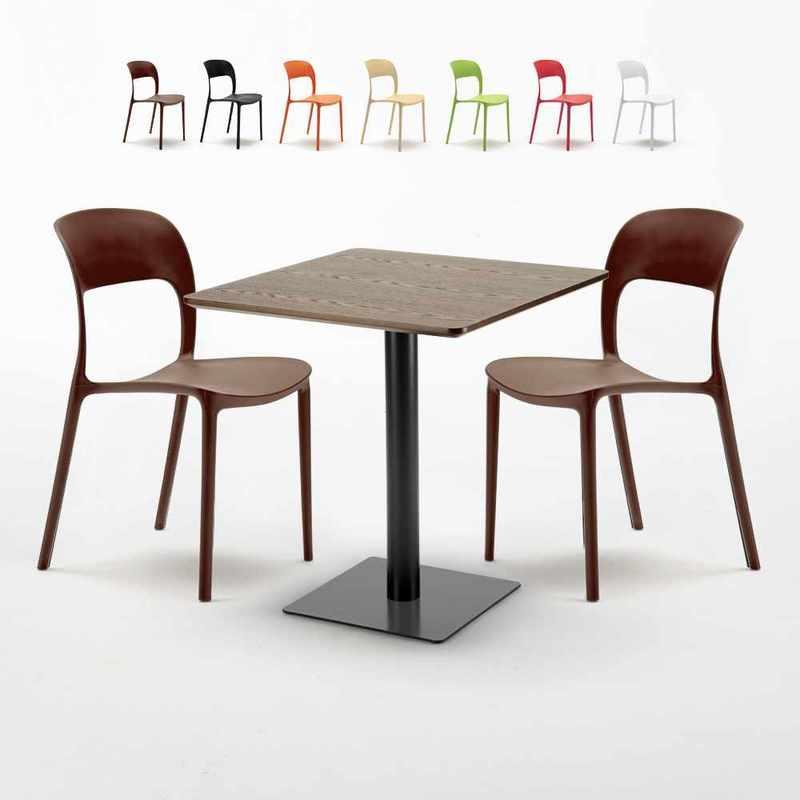 Bar Table Ronde Blanc Carré Noir 70x70 Bistrot Noir Carré Ahd Amazing Home Design