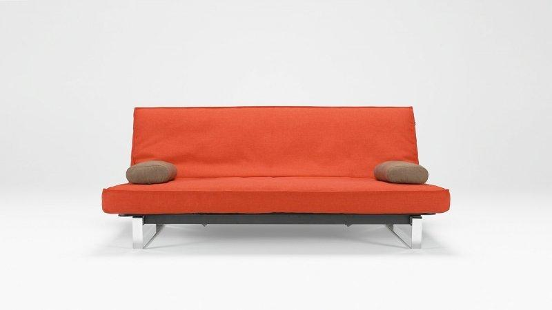 Canape lit design minimum rouge orange innovation clic for Canape lit clic clac
