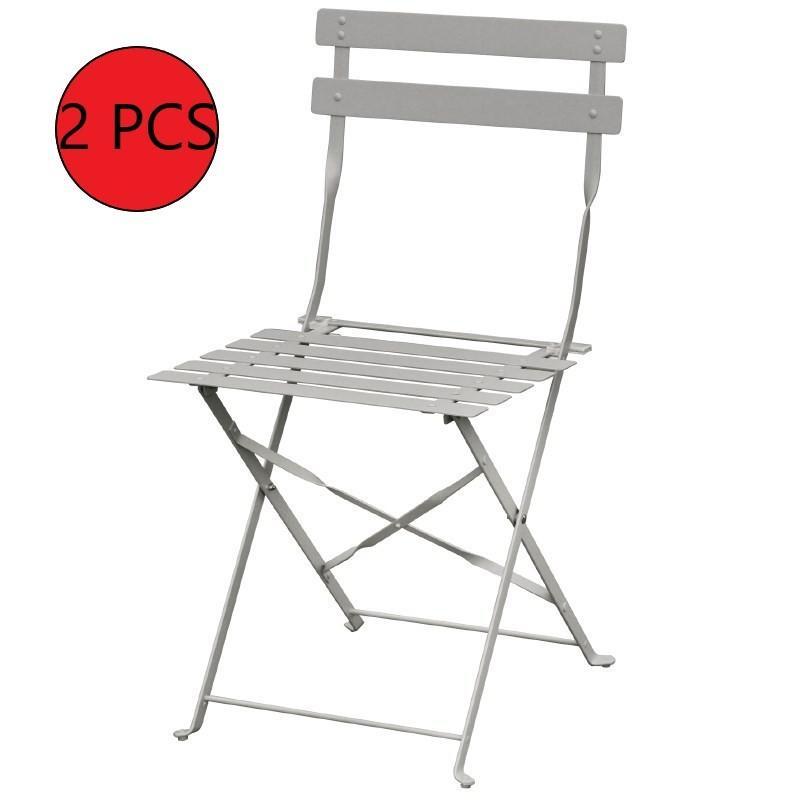 2 Professionnel Gris Chaise Pieces Pliante 5j34ARqL