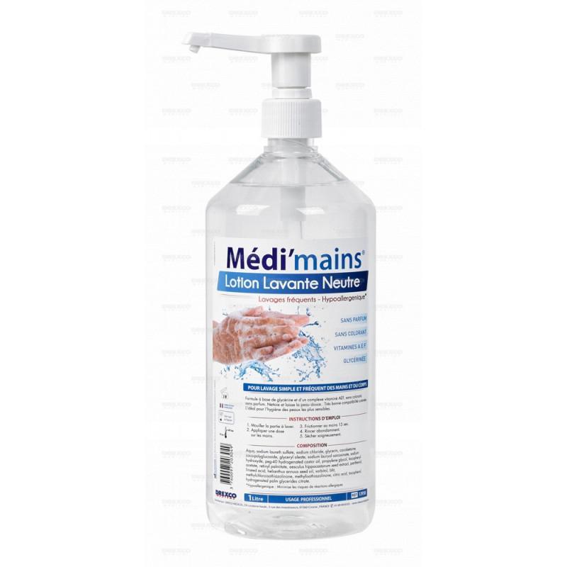 Lotion lavante neutre medi'mains 1l - lot de 6 -