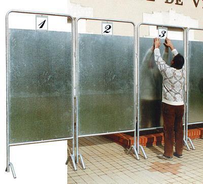 Panneaux électoraux h: 1 700 mm x 1 500 mm