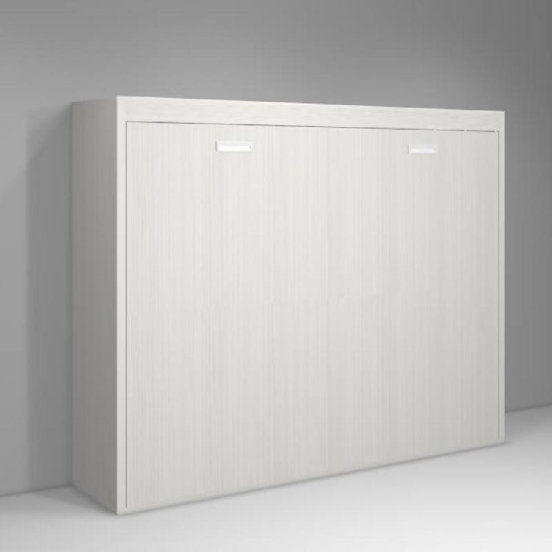 armoire lit transversale agata blanc tex perle couchage 140 18 190cm comparer les prix de. Black Bedroom Furniture Sets. Home Design Ideas
