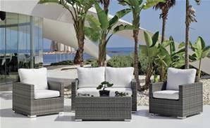 Salon de jardin comparez les prix pour professionnels sur page 1 - Salon de jardin en rotin demi cercle noir ...