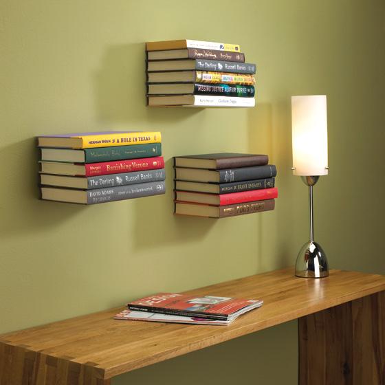 etagere invisible pour livres. Black Bedroom Furniture Sets. Home Design Ideas
