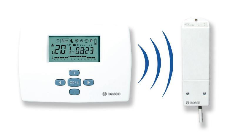 thermostat mural programmation hebdomadaire 2 fils alimentation par piles colis ref. Black Bedroom Furniture Sets. Home Design Ideas