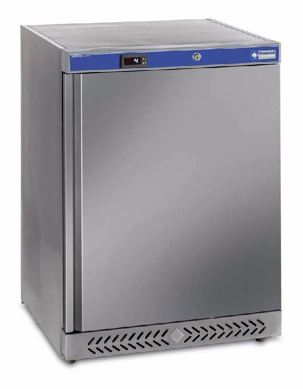 Frigo ventile 150 litres extérieur acier inox 200 litres jumbo line 600x585xh845 - pv200x
