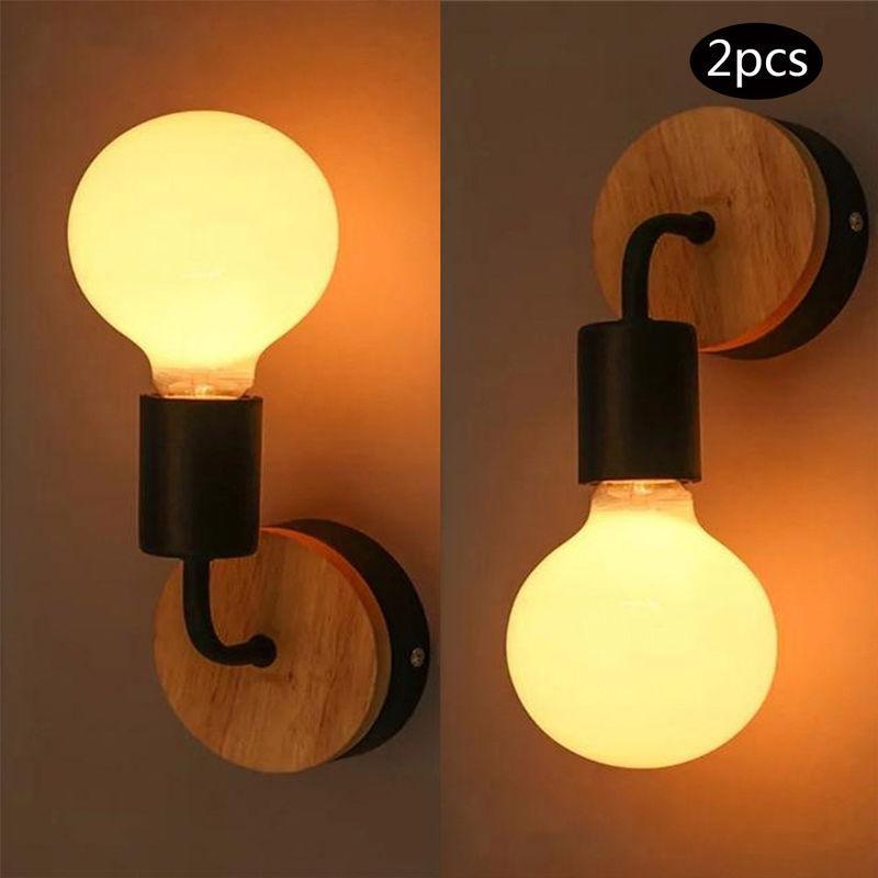 2PCS LAMPE MURALE DE CHEVET ECLAIRAGE DECOR APPLIQUE MURALE NOIR - AXHUP
