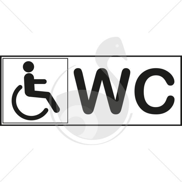 autocollant toilette handicape. Black Bedroom Furniture Sets. Home Design Ideas