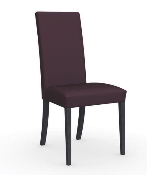 Calligaris chaise italienne latina  piétement graphite assise tissu aubergine