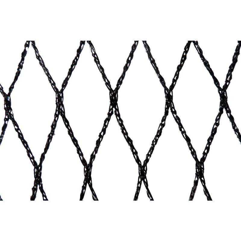 FILET ANTI-OISEAUX - MAILLE DE 22MM - GRANDE DIMENSION NOIR 8M X 100M - NOIR - MAILLESTORE