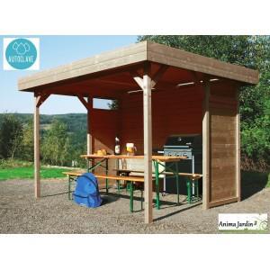 Pavillon de jardin en bois autoclave 19mm - s710-regensburg