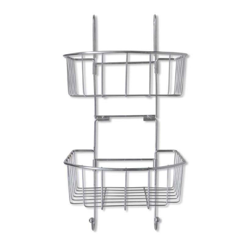 etag re d 39 angle de salle de bain en m tal rangement pratique helloshop26 comparer les prix de. Black Bedroom Furniture Sets. Home Design Ideas