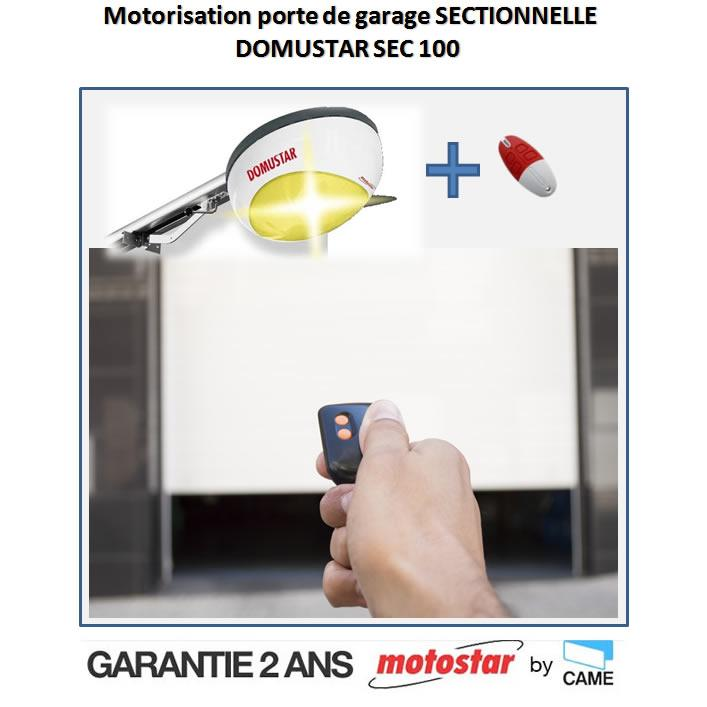 Motorisation porte de garage sectionnelle motostar by came for Marque de porte de garage sectionnelle