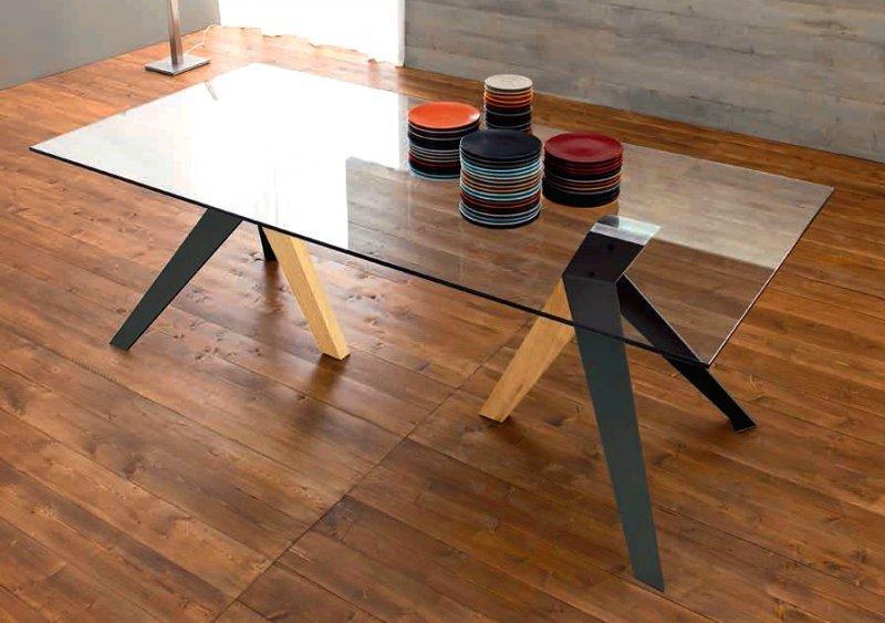 trio table repas en verre pi tement en bois teint. Black Bedroom Furniture Sets. Home Design Ideas