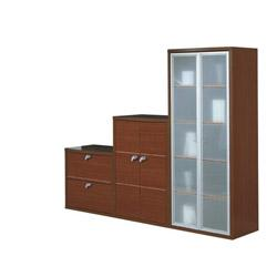 biblioth que meuble bas gautier office gamme. Black Bedroom Furniture Sets. Home Design Ideas