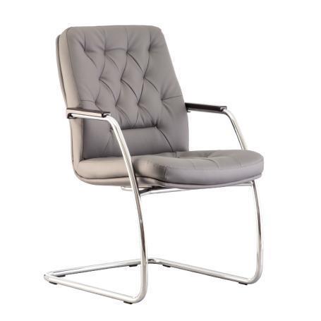 Chester chaise de conférence en eco-cuir gris