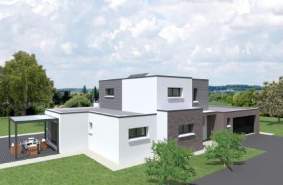 Habitations completes maison moderne et spacieuse de 170 m for Maison moderne electricite