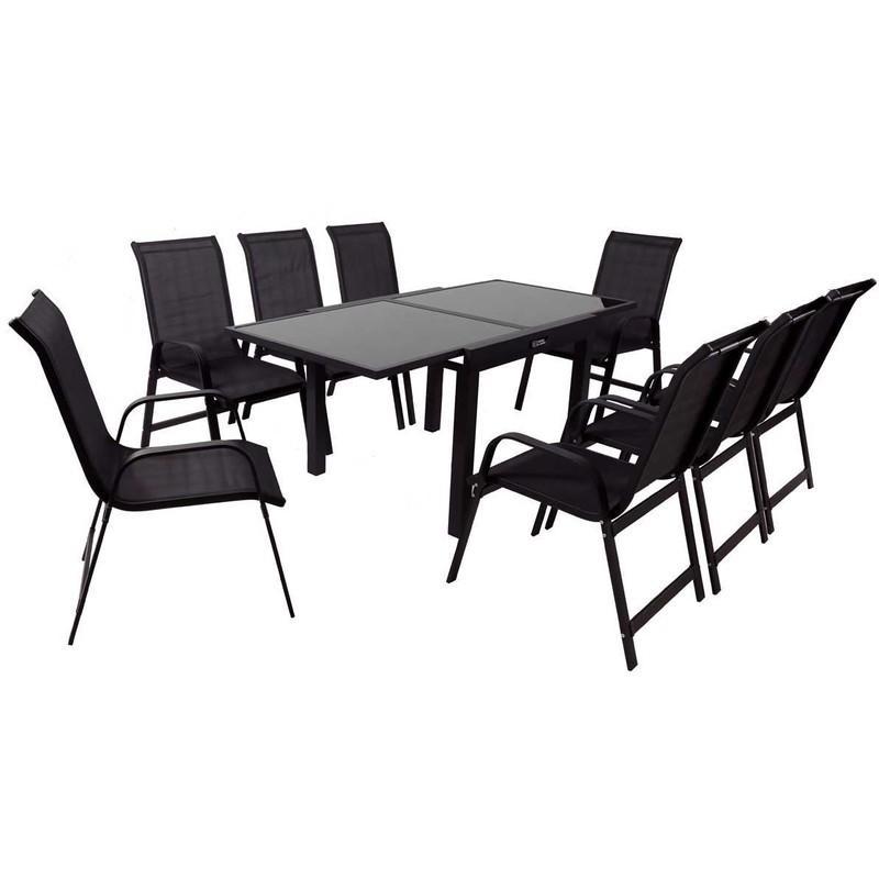 Salon de jardin habitat et jardin achat vente de salon - Table de jardin noire asnieres sur seine ...