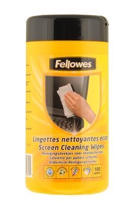 NETTOYAGE INFORMATIQUE FELLOWES - BOÎTE DE 100 LINGETTES NETTOYANTES POUR ÉCRAN