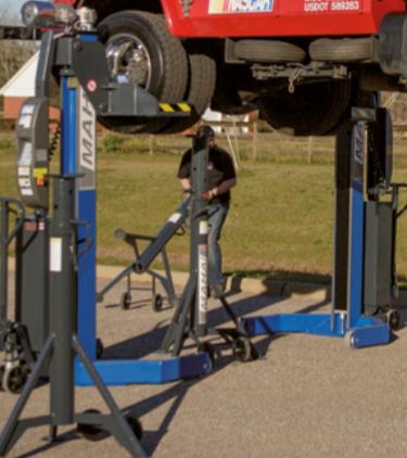 Colonnes mobiles fonctionnant sur batterie pour poids lourds et autocars  type: rga