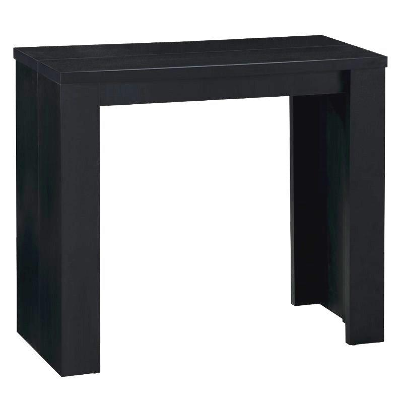 console extensible en table repas elasto chene noir. Black Bedroom Furniture Sets. Home Design Ideas