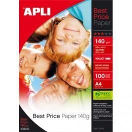 AGIPA POCHETTE DE 100 FEUILLES PAPIER PHOTO BRILLANT BEST PRICE 140G A4