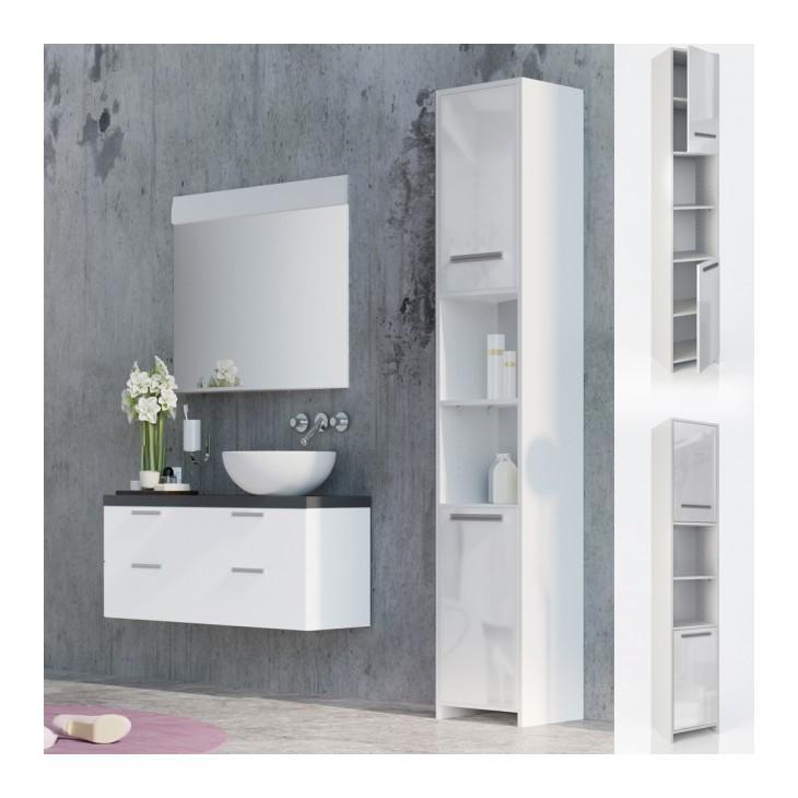 colonne de salle de bain bianco 1950 x 300 x 300 mm zoopet comparer les prix de colonne de. Black Bedroom Furniture Sets. Home Design Ideas