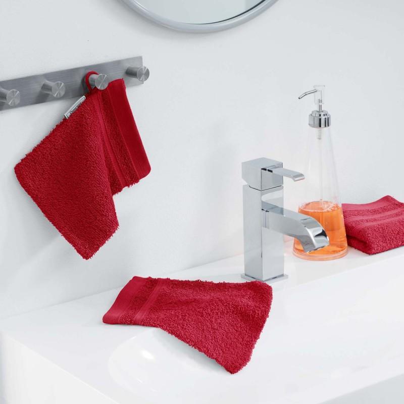 Lot de 2 gants de toilette vitamine 15x21cm rouge - paris prix