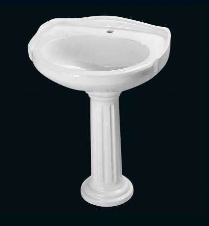 lavabo colonne retro r blanc. Black Bedroom Furniture Sets. Home Design Ideas