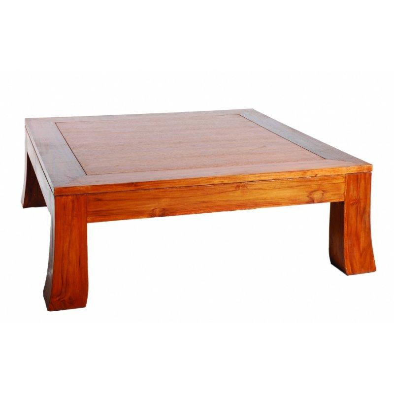 Table teck design d coration de maison - Table basse teck massif ...