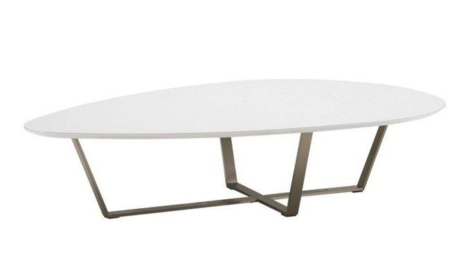 Table basse orange design for Pietement table metal