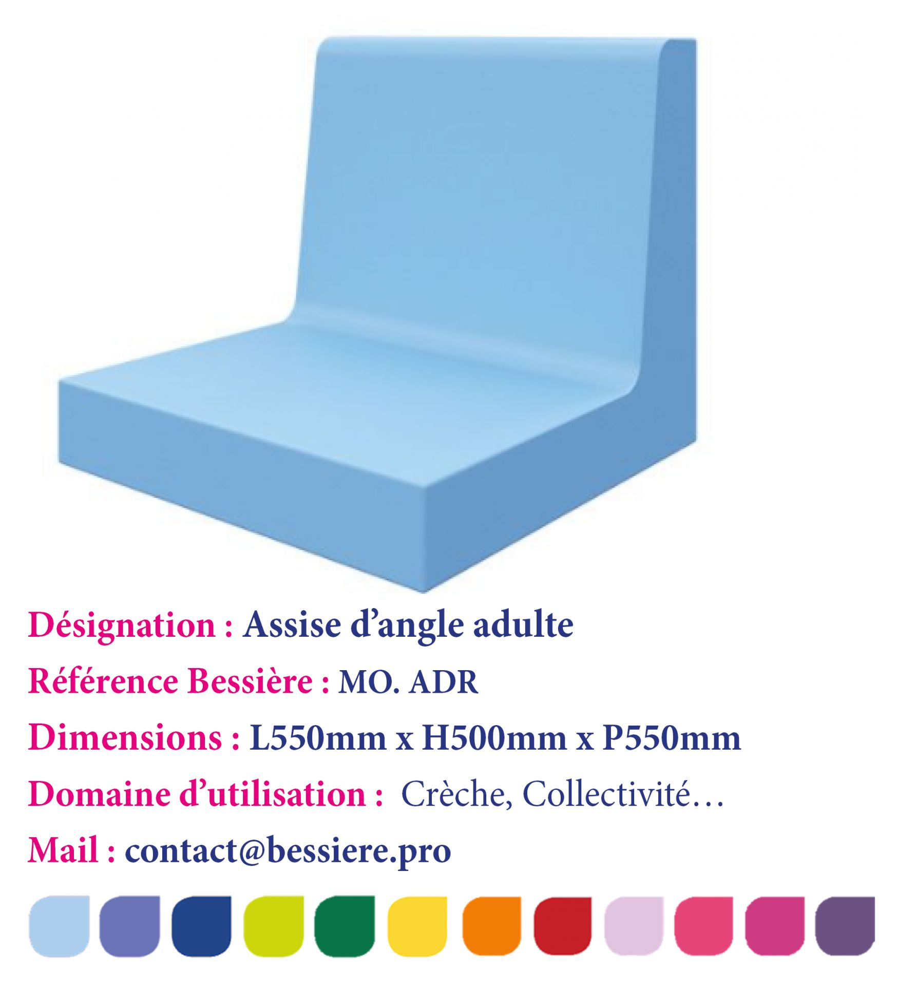 ASSISE DROITE ADULTE