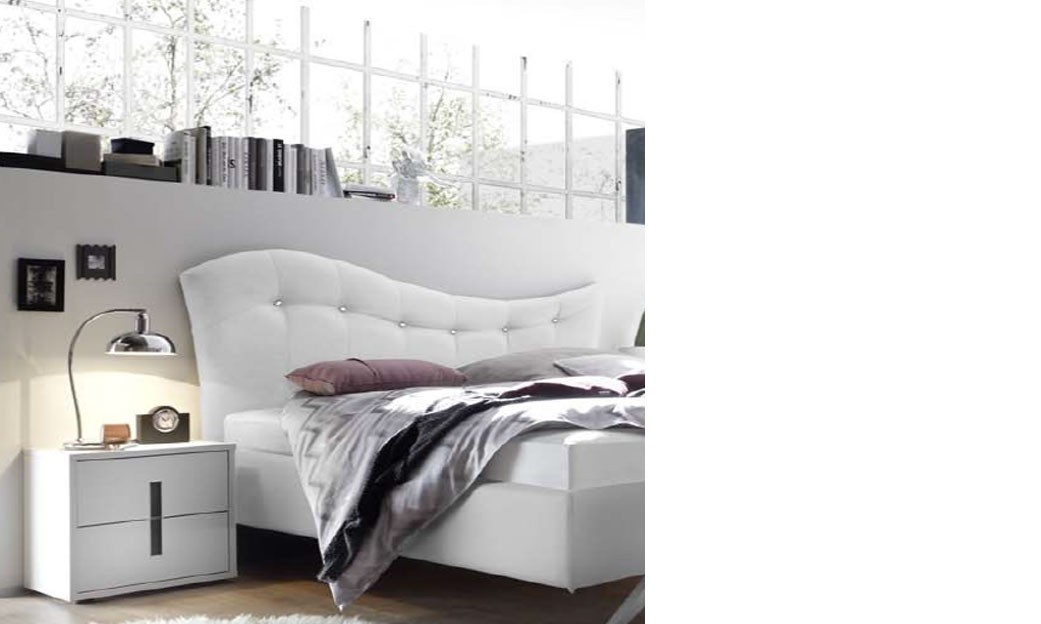 chevet design blanc et anthracite chambre adulte aria. Black Bedroom Furniture Sets. Home Design Ideas